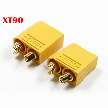 Nesest Gold Plated XT90 XT 90 Male Female Banana Plug Bullet Connectors Plugs for RC Quadcopter