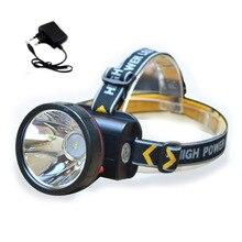 Alta poderosa llevó el faro lámpara de minero Luz principal de la antorcha Lanterna Lámparas brillante 1600 Lúmenes Lampe Torche con batería recargable
