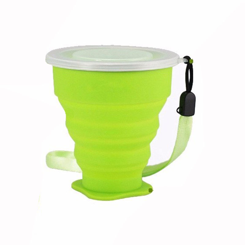 New 200mL Vogue Outdoor Travel Silicone Retractable Folding Cup Telescopic Collapsible Water Bottle 72201