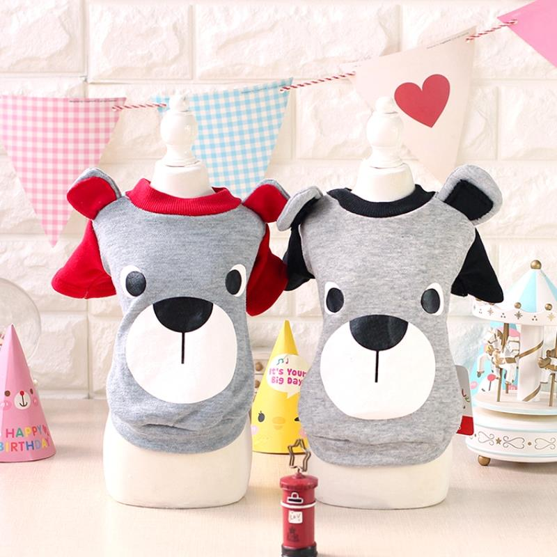 Catoon Father Bear Ear Dog Sweater Dog Hoodies Top Shirt Clothing For Dogs Clothes Yorkshire Teddy Puppy Pet XS-XL