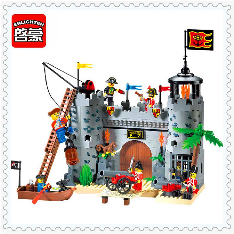 366Pcs Castle Pirates Robbery Barracks Model Building Block Toys ENLIGHTEN 310 Educational Gift For Children Compatible Legoe lepin 16008 cinderella princess castle city model building block kid educational toys for children gift compatible 71040