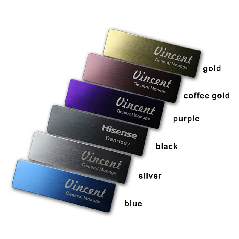 10pcs custom name tag personalized name badge id business laser name plate badge with magnet or pin  (23)