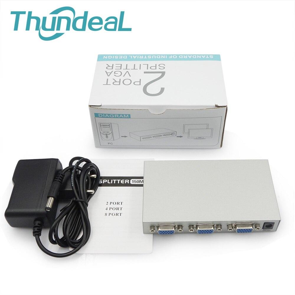 Thundeal Vga Splitter Box Monitor 150mhz 1 In 2 4 8 Out Amplifier Converter Port Spliter Extender Xga Svga Uxga Smart Solution Not Switch Cables From Consumer