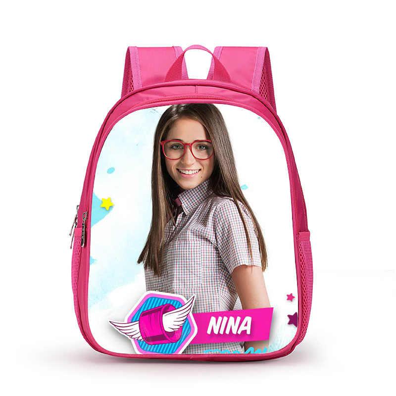 2018 Lovely Girl Soy Luna Schoolbag Cute Backpacks for Teenage Girls School Bag Fashio Pink Printing Rucksack Mochilas