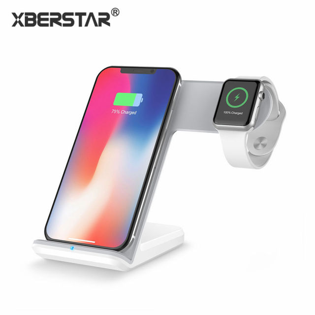 Qi wireless phone charger charging dock stand for iPhone X/8 Apple watch 2 3 with Type C Port Android Samsung S8 mobile chargers
