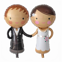 2pcs Couple Foil Balloons Wedding Decorations Air Balloos Inflatable Toys Mariage Party Supplies Personality Creative Ballon