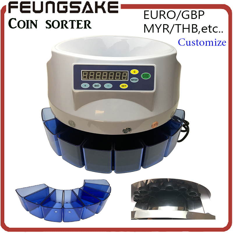 Electronic coin sorter SE-800 coin counting machine for most of countries Euro GBP MYR THB etc,coin sorting andwrapping pipe electronic coin sorter se coin counting machine for most of the countries tl 906 coin sorter