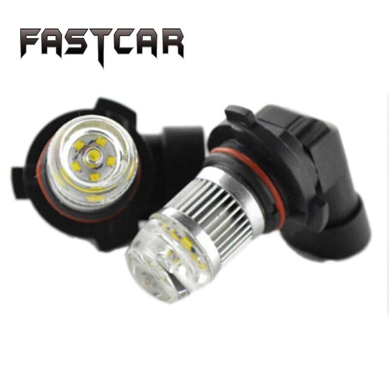 2X DC12-24V 30W H7 H8 H11 9005 9006 HB4 White Light Chips XBD 6 LED Fog Light Bulbs Lamps