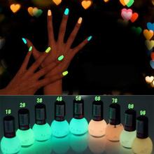 1pcs 6ml  Candy Color Luminous Nail Polish Fluorescent Neon Light Glow in Dark Varnish High Quality Luminous Paint Nail Art Oil