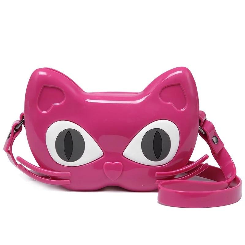 mini melissa brand 2018 girls jelly sandals cute cat melissa bag Black/Red/Gold/ high quality girls melissa bags melissa