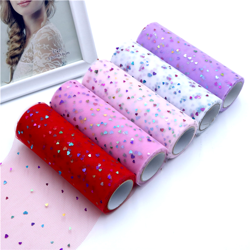 10 Yards 15cm Glitter Sequin Tulle Roll Spool Tutu Skirt Fabric Wedding Deco Organza Laser DIY Crafts Birthday Party Supply in Fabric from Home Garden