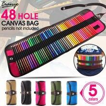 5 видов цветов 48 отверстий холст рулон мешок косметическая