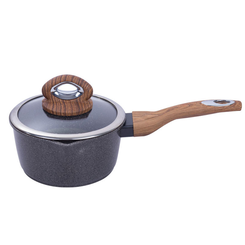 New Maifanite Milk Pot With Glass Cover Noodle Soup Nonstick Baby Food Supplement Pan General Use For Gas And Induction Cooker