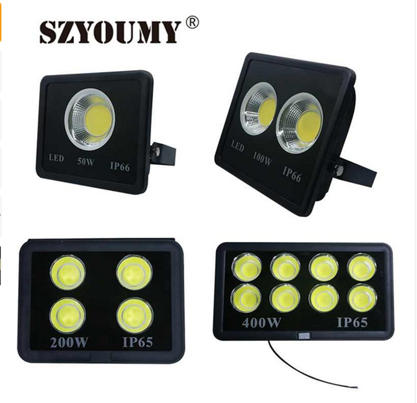 SZYOUMY Super Bright 200W COB Led Flood Light 400W 500W 600W Waterproof Led Reflector Outdoor Lamp Led Floodlight Street Lamp