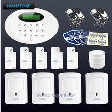 HOMSECUR Wireless&wired GSM Burglar Intruder Alarm System With 4 Pet-Immune PIR