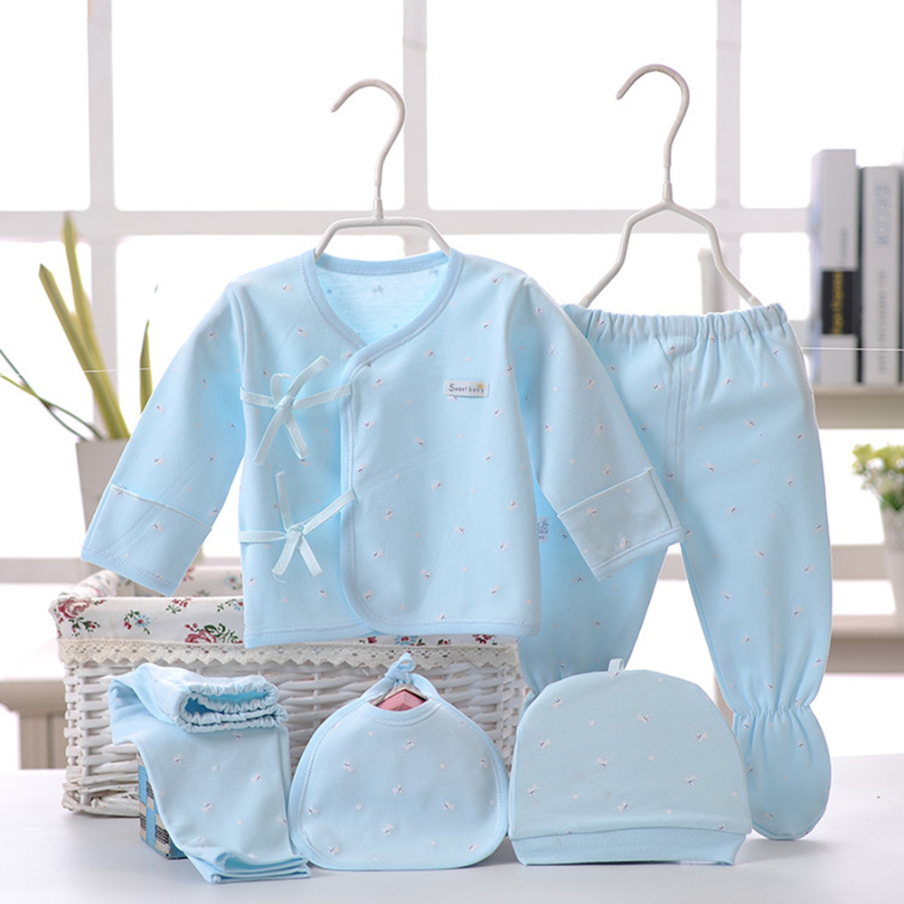 2018 Set Baby Care Hat Scarf Bedding Suits 5Pc Casual Suits Pack For Newborn Bebe Clothing New Born Baby Boy Clothes Baby Outfit
