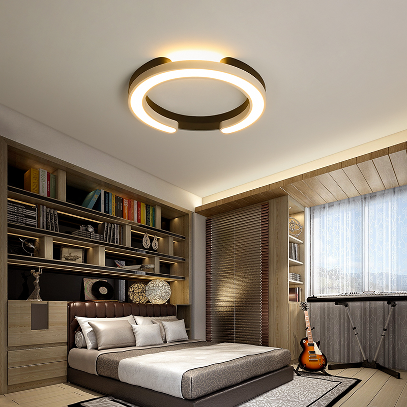 Ceiling Lights & Fans Bedroom Modern Minimalist Led Ceiling Lamp Main Bedroom Lamp Second Bedroom Round Warm Romantic Creative Home Lamps