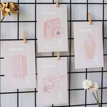 30 Pcs/box Pink dream greeting card blessing message cards birthday  postcard gift