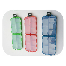 1 PC High Strength ABS Fishing Tackle Accessories Box Mini 10 Rectangular design fishing gear cover 9.5cmx6.3x2.5cm
