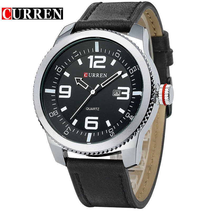 Curren Watches Men Luxury Wristwatch Male Clock Casual Fashion Business sports Wrist Watch Quartz Leather relogio masculino цена 2017