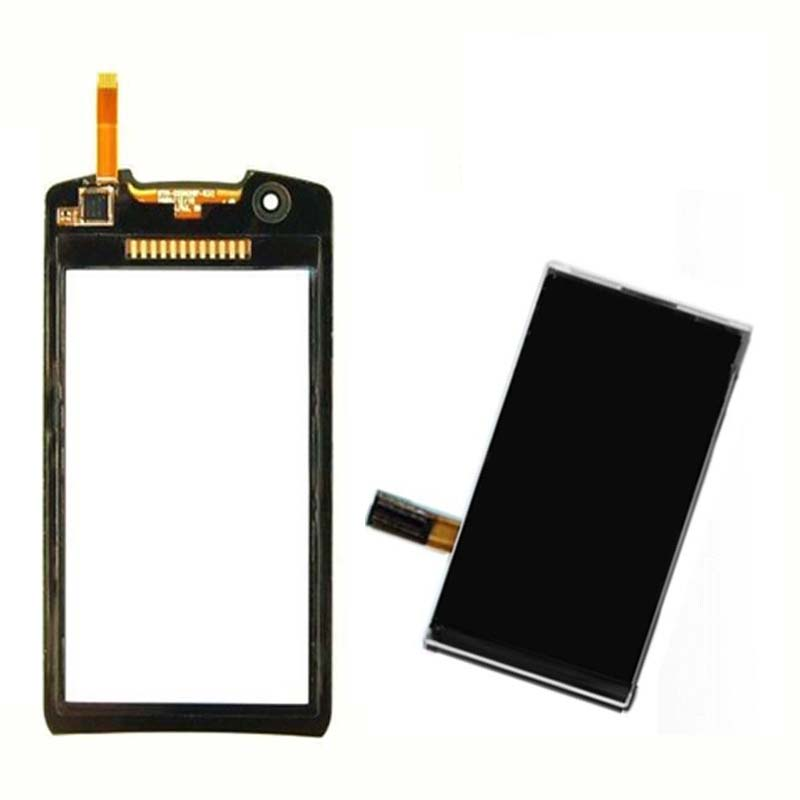 Black / White For Samsung Monte S5620 5620 Touch Screen Digitizer Sensor Glass + LCD Display Screen Panel Monitor