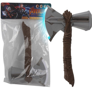 Sound Flash Light Thor Axe Hammer Stormbreaker Kids Toys Cosplay Weapons Movie Role Thor Thunder Hammer Gravity Induction