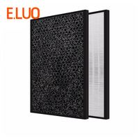 High efficiency collect dust hepa filter and activated carbon filter of air purifier parts for KJ30FE NV etc 450*290*30/10mm|air purifier hepa filter|hepa air filterair filter hepa -