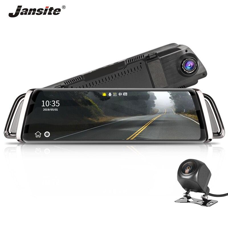 Jansite 10 IPS 1080P Car DVR Stream media Touch Screen Dash cam Camera Super Night Vision