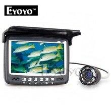 Eyoyo Original 15M Underwater Ice Video 1000TVL Fishing Camera Fish Finder 4.3″ LCD Monitor 8 LED Night Vision Camera Sunvisor