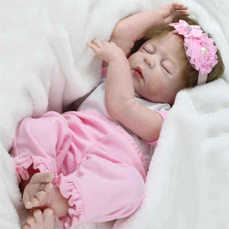 KAYDORA 22 inch 55cm Volledige Vinyl Silicone Reborn Poppen Schattige Realistische Slapen Meisje Bebe Reborn baby's Bonecas Dropship