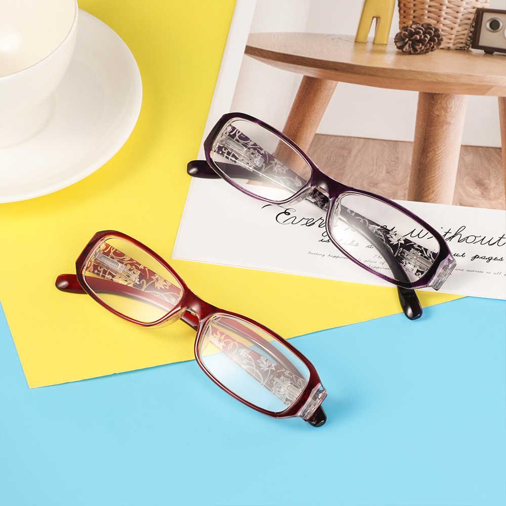 2020 แฟชั่นผู้หญิงฤดูใบไม้ผลิบานพับดอกไม้พิมพ์เรซิ่นแว่นตาผู้หญิงแว่นตาป้องกันแว่นตาPresbyopic + 1.0 ~ + 4.0