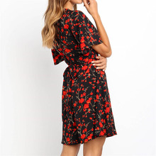 Women's Colorful Floral Printed Dress