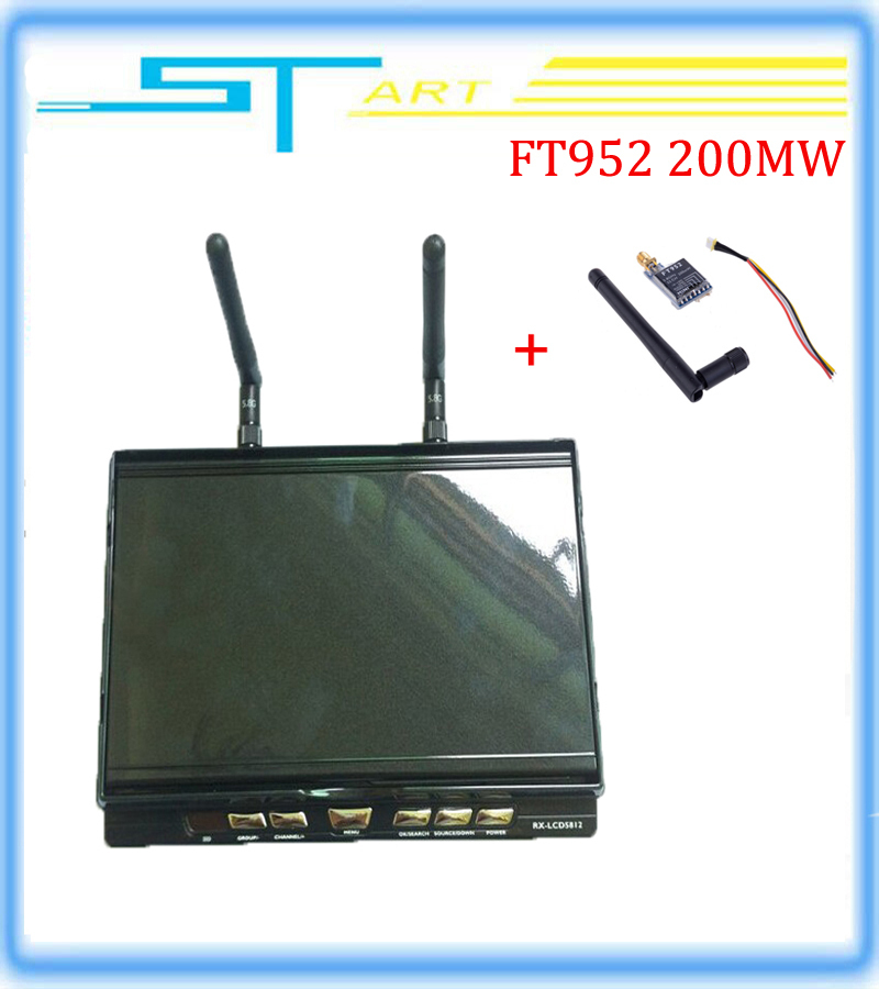 LCD5812 7 inch RX 5.8G FPV Monitor HD Screen 32 display frequency with FT952 Image transmission LCD screen built-in battery
