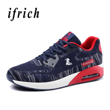Man Running Shoes Light Gray Dark Blue Mens Mesh Sneakers Spring Autumn Men Trainers Air Breathable For Male