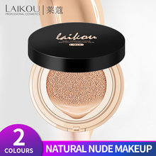 LAIKOU Air Cushion Foundation Cream Concealer Sunscreen moisturizing Whitening flawless makeup bare For Face Beauty Base Makeup