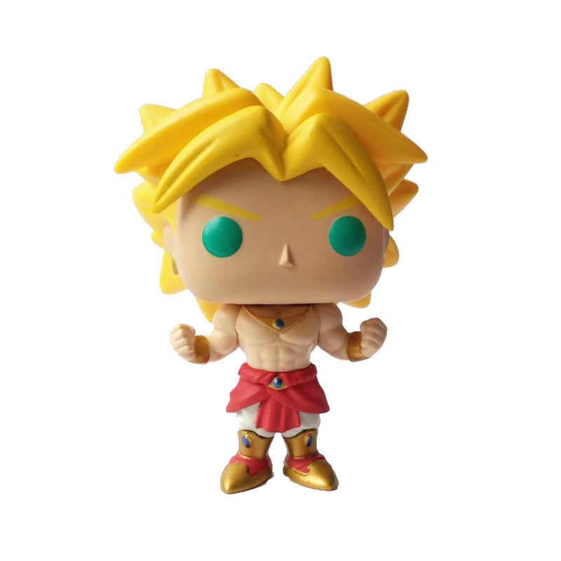 Funko pop amine dragon ball super saiyan broly vinil figura de ação collectible modelo brinquedos para crianças presente aniversário