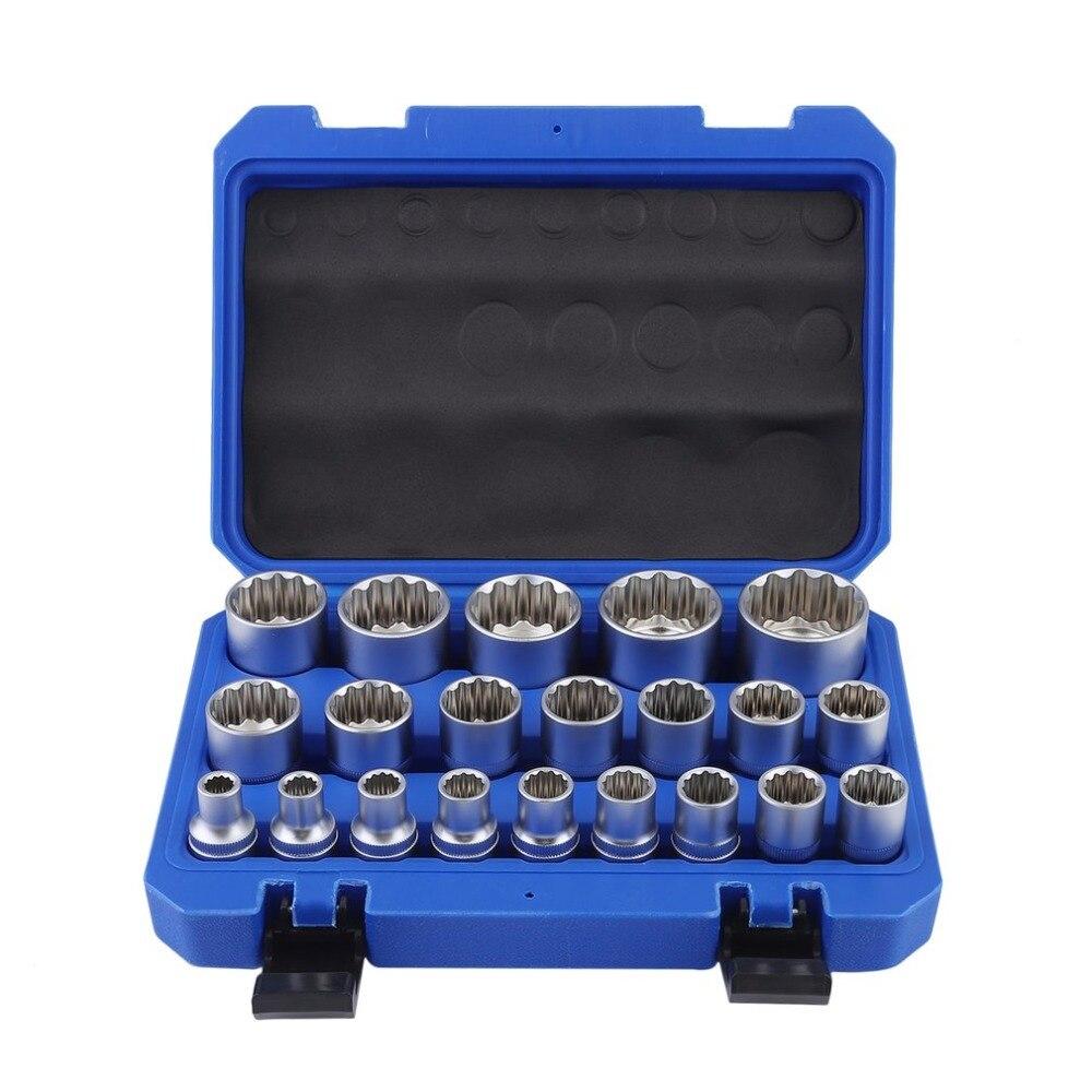 8-36 мм multi-зуб гнездо 21 шт. гнездо ключ Multi-зуб орехи Тяжелых Гнездо комплект прочный Инструменты для ремонта автомобилей J28C30