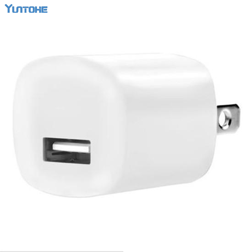 100pcs lot US EU Plug cube USB Travel AC Power Wall charger Adapter Charger For iPod