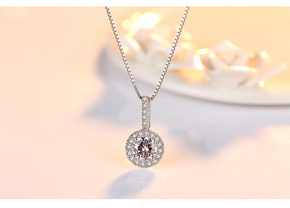 S925 sterling silver necklace pendant zircon exquisite ladies accessories GL19S925 sterling silver necklace pendant zircon exquisite ladies accessories GL19