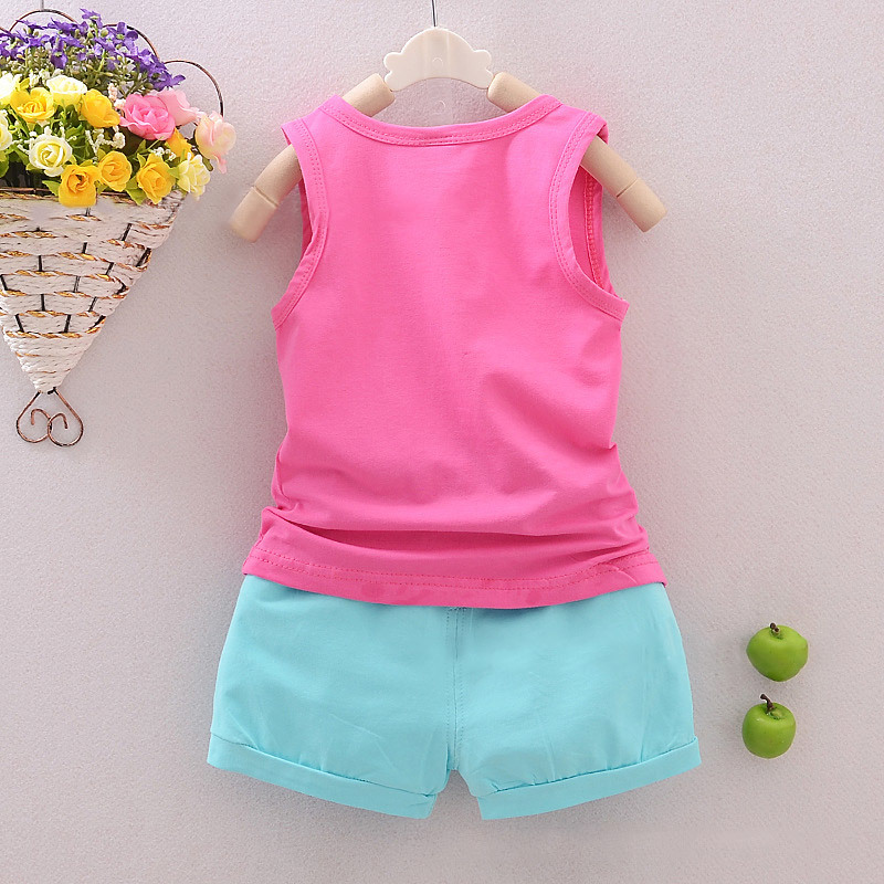 Clothing Sets Mother & Kids shorts Pants 2pc Set Outfits Clothes Oct Girls Clothes A Great Variety Of Goods Motivated Children Clothing Kids Baby Girls Floral Vest Tops Shirt