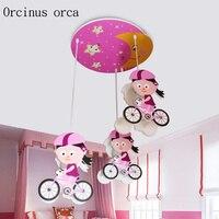 Персонализированные Творческий мультфильм детские светодиодные лампы Eye Care для маленьких девочек велосипед детская комната лампа бесплат