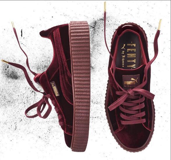2018Puma shoes puma Velvet thick soled platform shoes Shoes