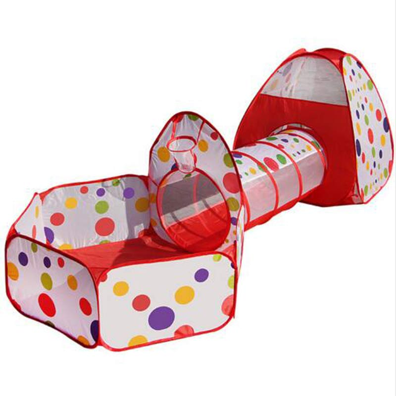 3 In 1 Kids Tent Pipeline Crawling Huge Game Play House Ball Pool Outdoor Indoor Baby Playpen Tienda Corralito Baby Play Fence