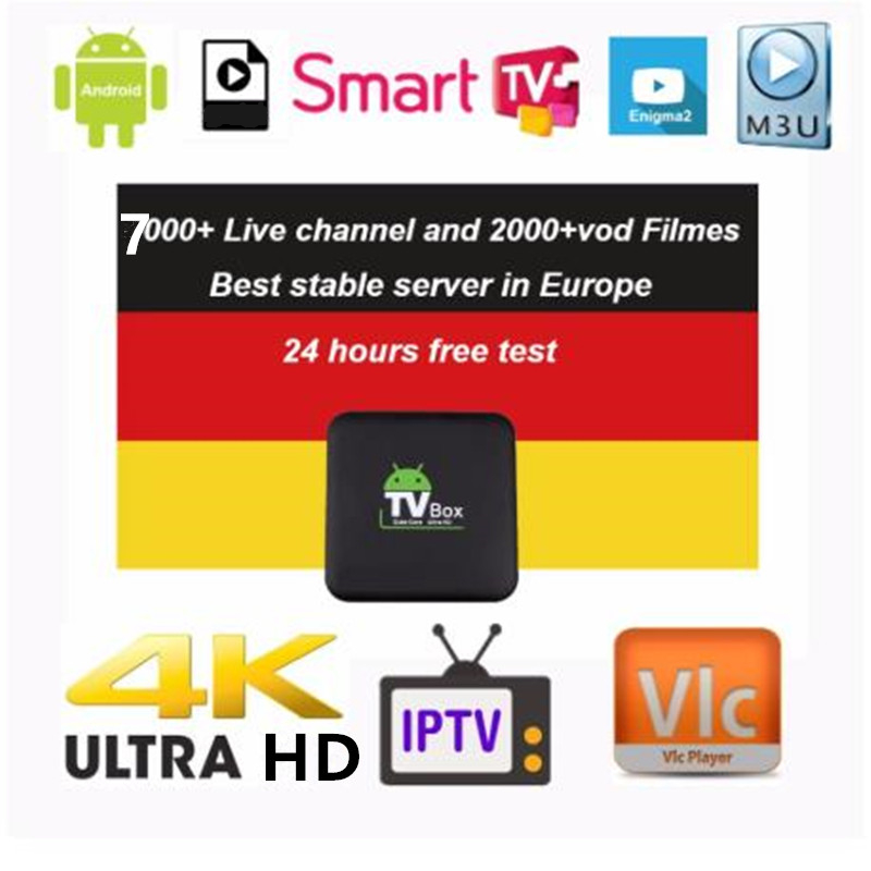 Europe IPTV Germany IPTV French IPTV 7000+ Live Free VOD Support Android M3u Enigma2  2000+Vod