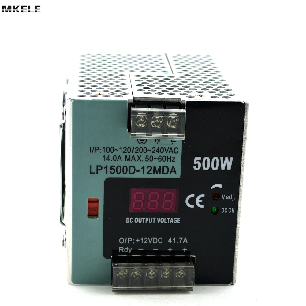 High Reliable And Quality Din Rail 12v 500w Power Supply LP-500-12 41.7A Single Output With Digital Function And CE talberg boyard 2 alu