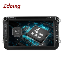 Idoing Android8.0 4G RAM 32G ROM 8Core 2Din Steering Wheel For VW/Skoda/Seat Car Multimedia DVD Player Fast Boot TV 1080P HDP