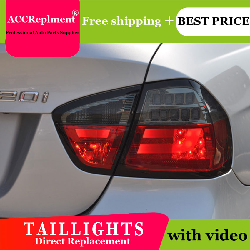 4PCS Car Styling for BMW E90 Taillights 2005-2008 for E90 LED Tail Lamp+Turn Signal+Brake+Reverse LED light image