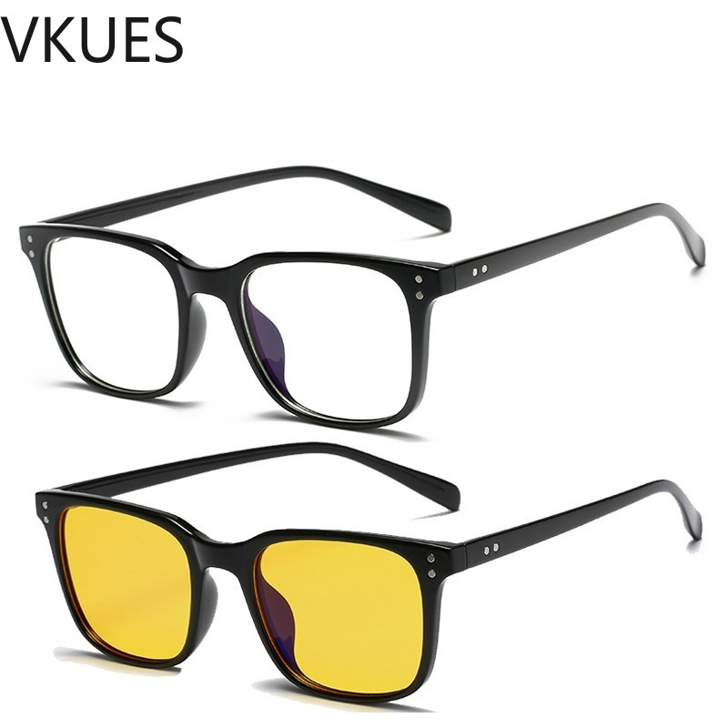 VKUES Blue light Glasses Computer Glasses Anti Blue Blocking Radiation Ultralight Unisex Rivet Decorative Eyewear Gaming Glasses in Women 39 s Blue Light Blocking Glasses from Apparel Accessories