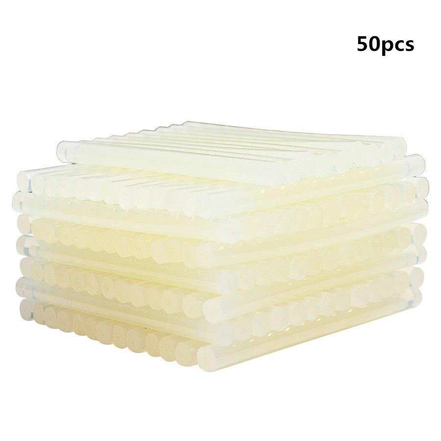 цена на 50Pcs/Sets 7mm Hot Melt Gun Glue Sticks Plastic Transparent Sticks for Glue Gun Home Power Tool Accessories