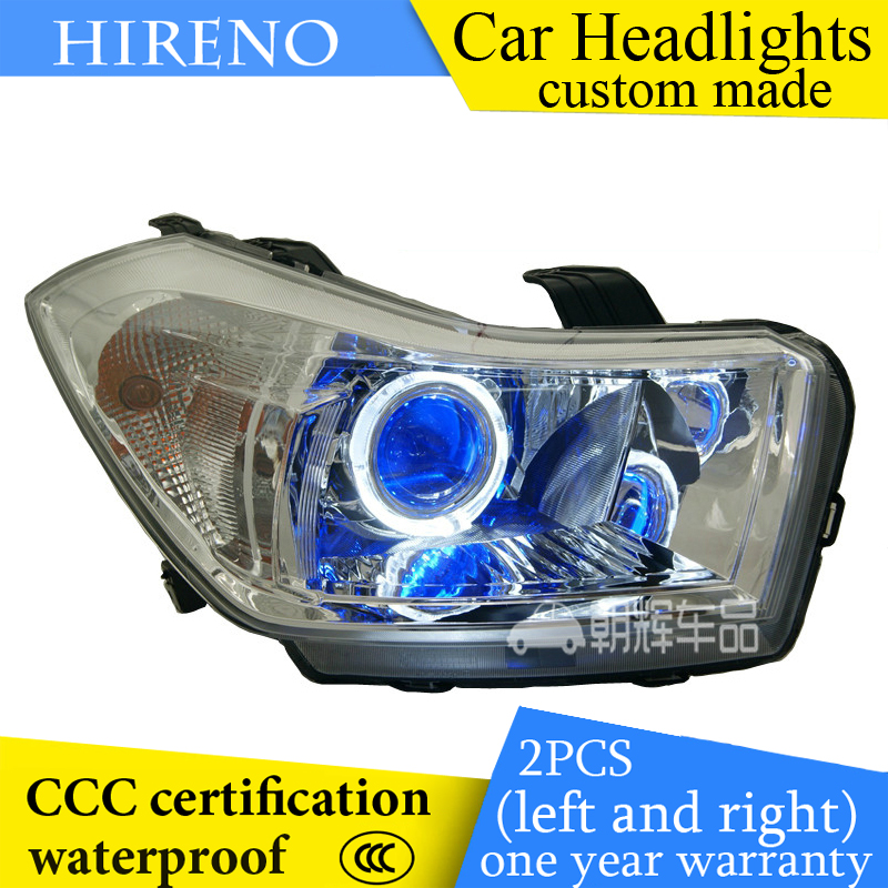 Hireno custom Modified Headlamp for Suzuki SX4 2013 Headlight Assembly Car styling Angel Lens Beam HID Xenon 2 pcs